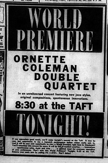 Ornette Coleman Double Quartet