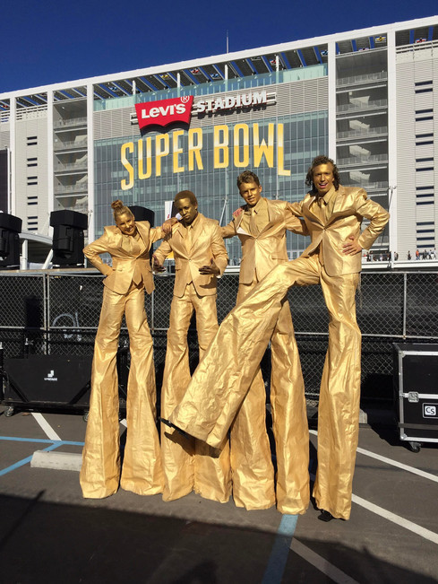 Super Bowl 50 Gold Stilt