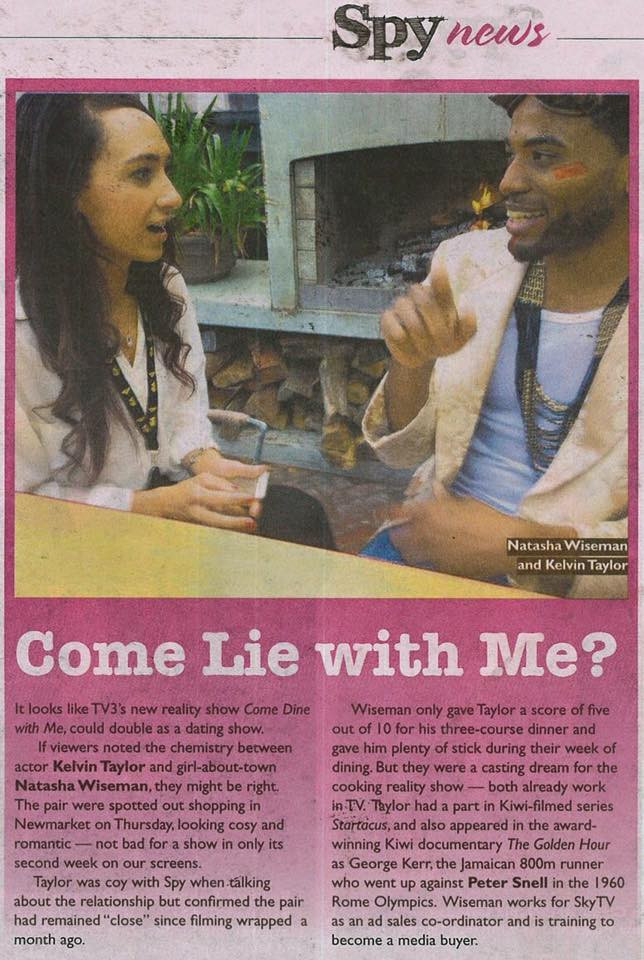 """Kelvin Taylor and Natasha Wiseman of """"Come Dine With Me NZ"""" TV Series"""