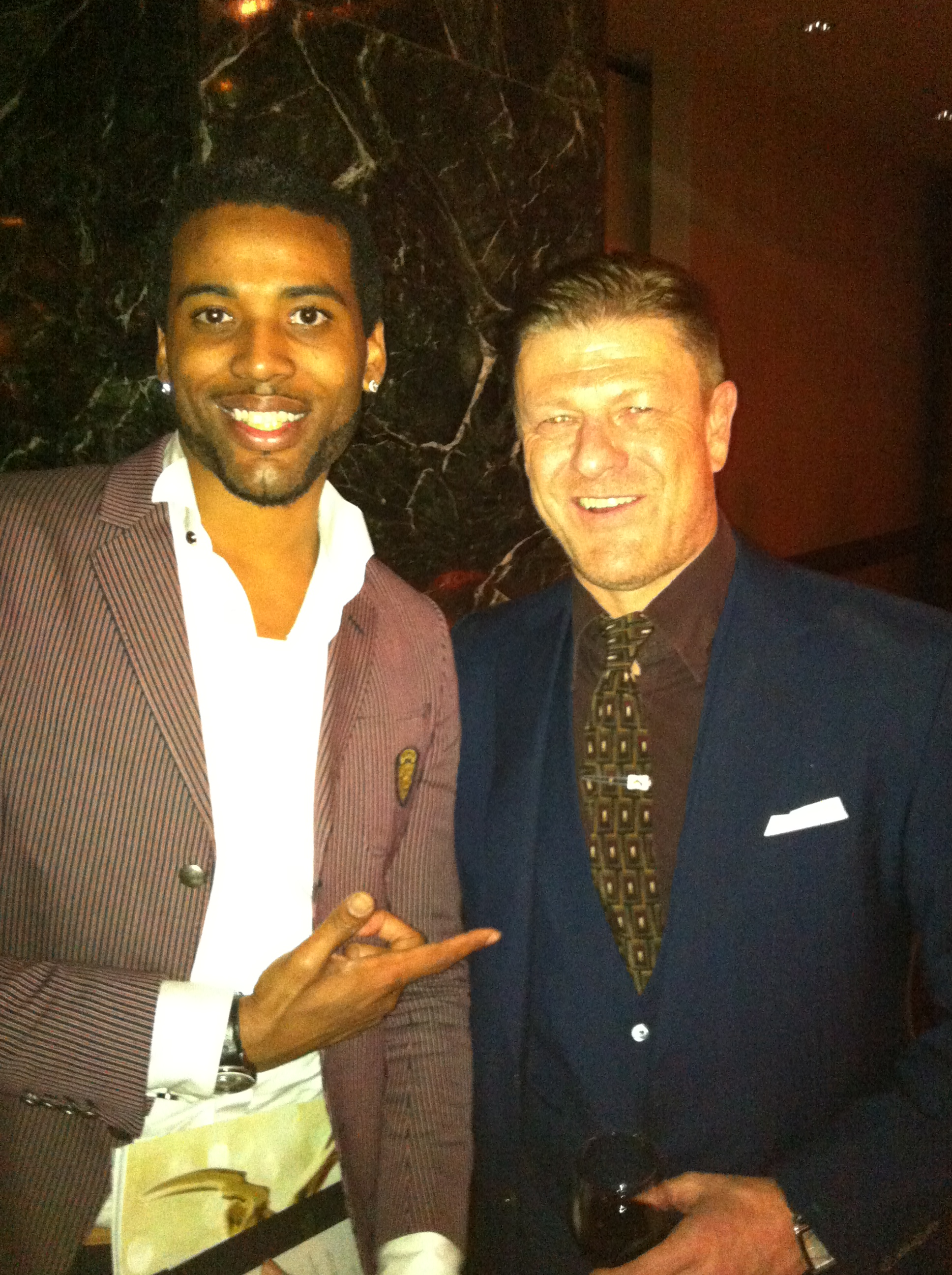 Actor Sean Bean and Kelvin Taylor
