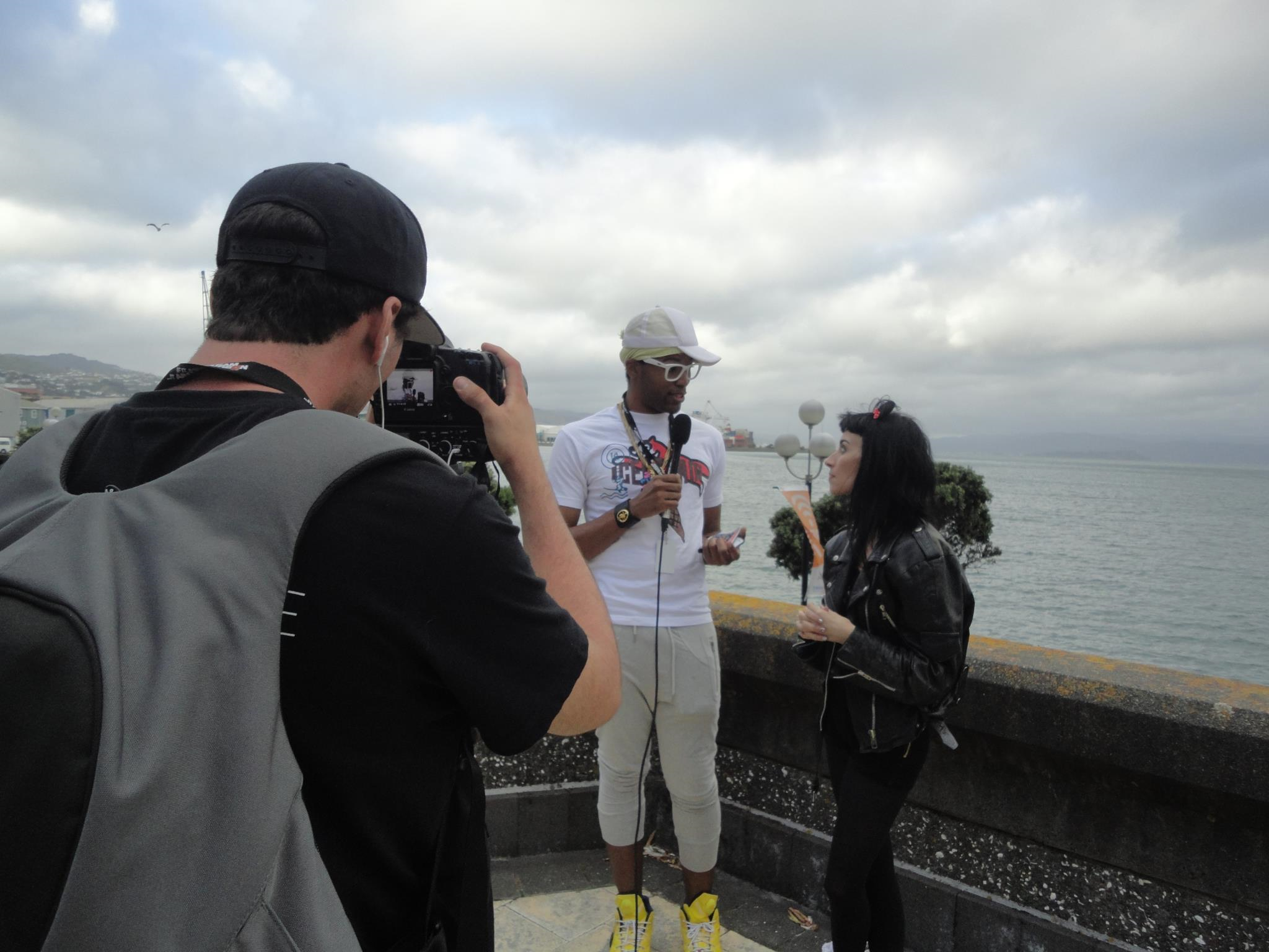 Kelvin Taylor interviewing Zoe