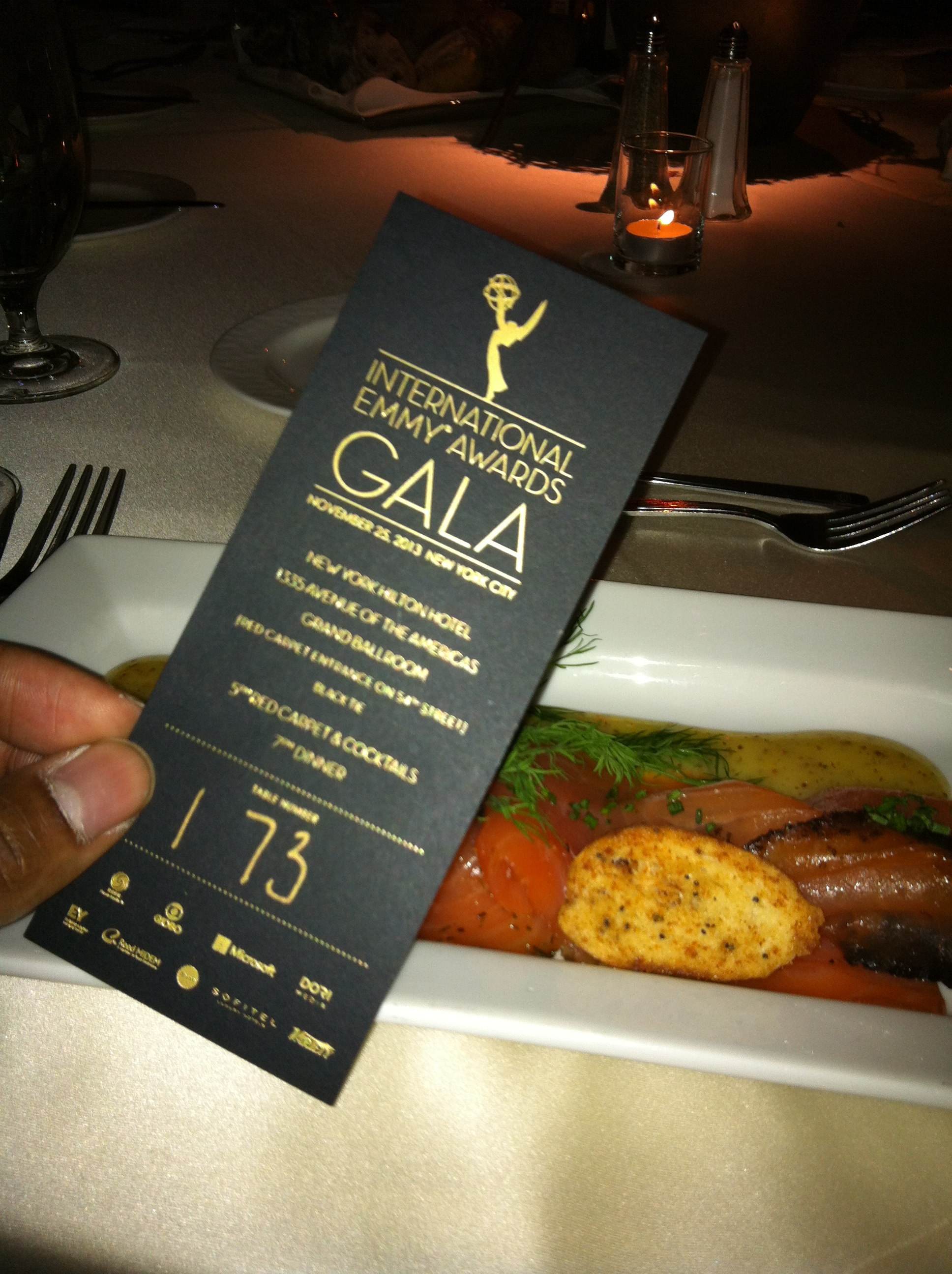 41st International Emmy Awards Menu