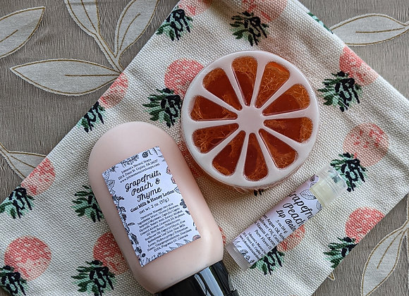Summer Citrus Loofah Gift Bag
