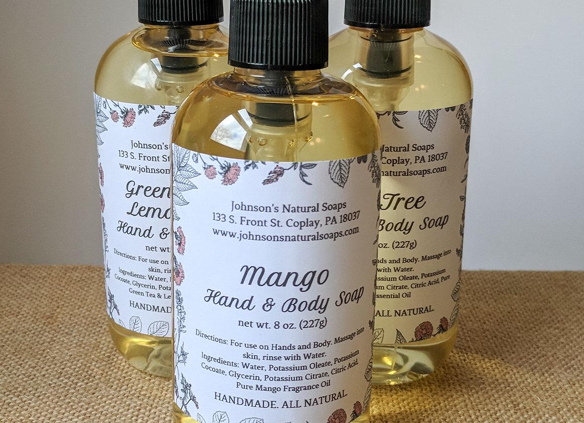 All Natural Liquid Castile Soap 8 oz