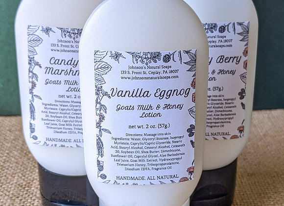Goat Milk & Honey Lotion 2 oz.