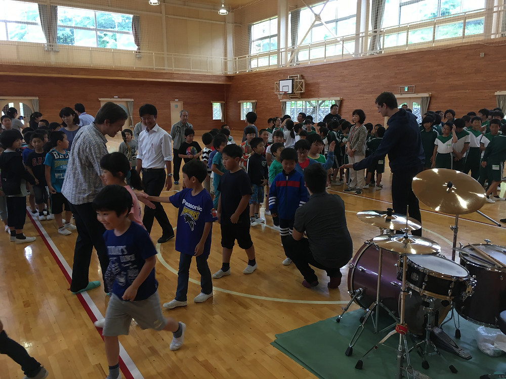 Great Workshop at Ofunato Elementary School!! So fun, great students!