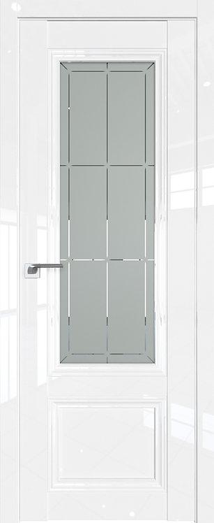 Дверь м/к 2.103 L Белый глянец