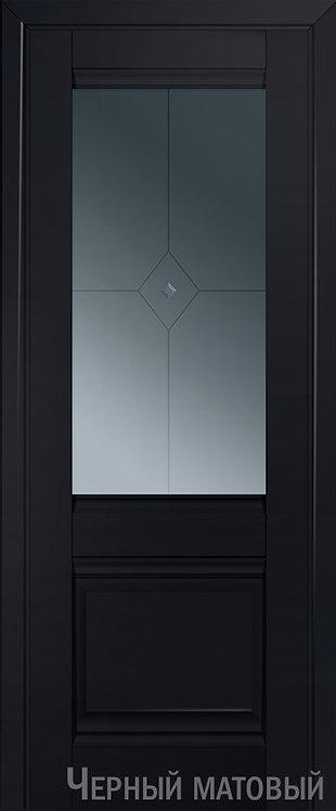 Дверь м/к 2 U Черный матовый