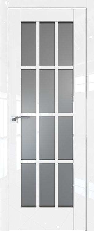 Дверь м/к 102 L Белый глянец