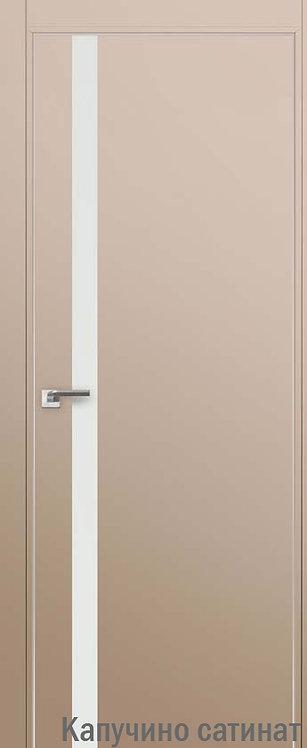 Дверь м/к 6 E Капучино сатинат