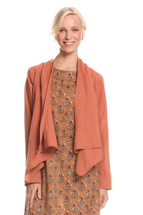 Lucy Linen Jacket - Clay