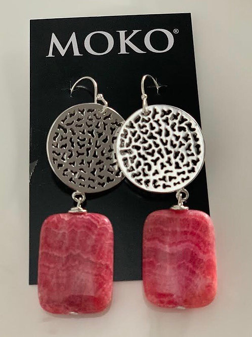 MOKO JEWELLERY - Earrings (Pink)