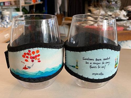 IMAGINE ELLIE wine glasses pair with coolers