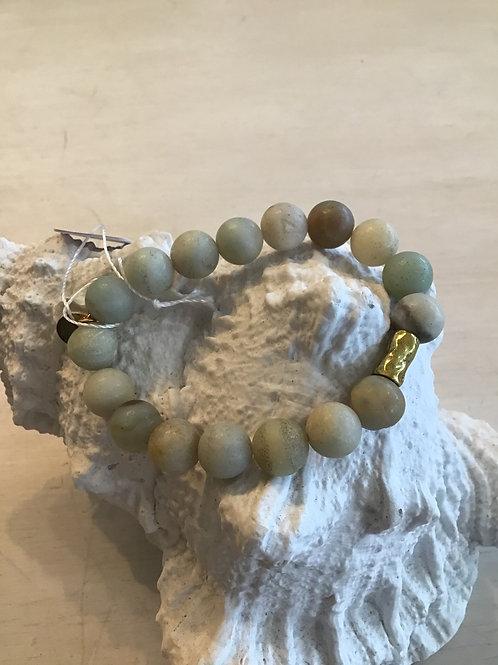 Amasonite stone - elastic bracelet