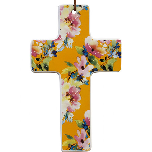 LAVIDA - Cross (large yellow floral)