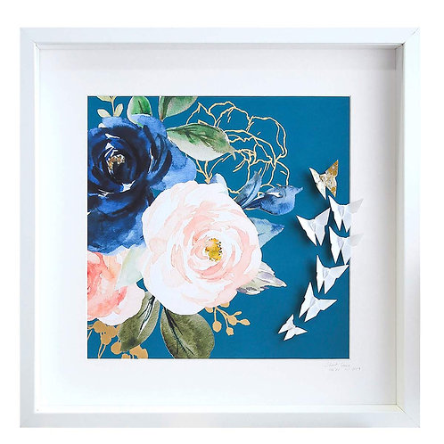 SHORT STORY - Floral Butterfly Frame (Large)