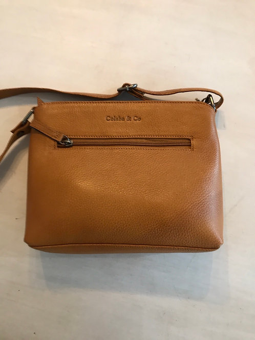 Colaba and Co Genuine Leather Satchel Mango