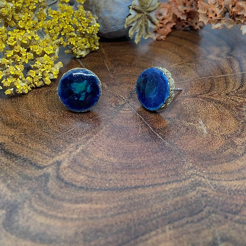 WOLF AND CLAY - Zander Collection Studs (blue)