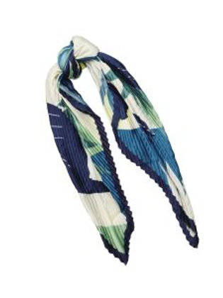 Indigo big bird scarf