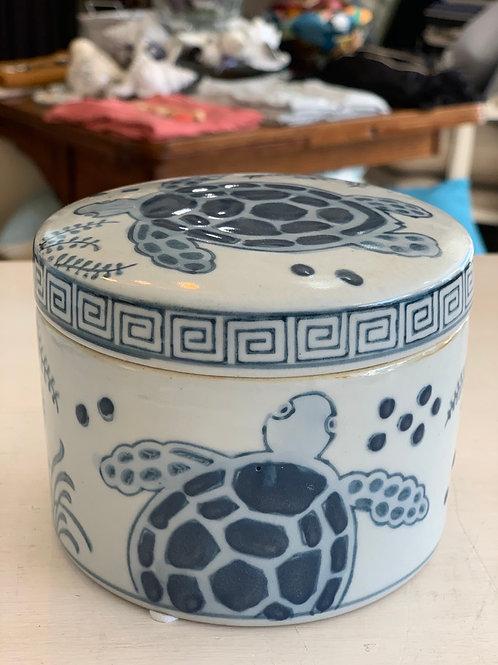 LAVIDA Turtle Ceramic Store Dish with lid