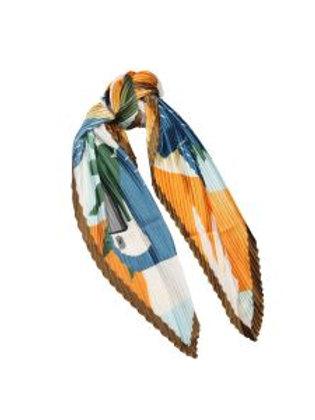 Mustard big bird scarf