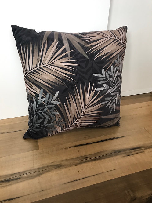 Dusk Palm velvet cushion 50cm