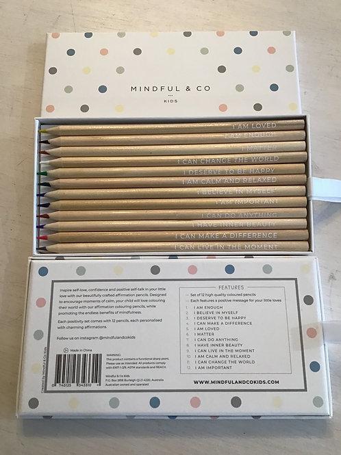 Mindful & Co Kids Affirmation Pencils