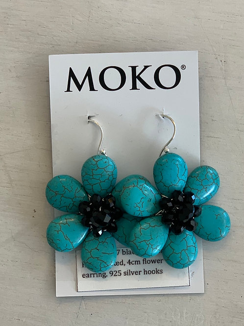 MOKO EARRINGS Turquoise