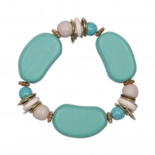 ENHANCE ACCESSORIES Saskia Aqua Bracelet