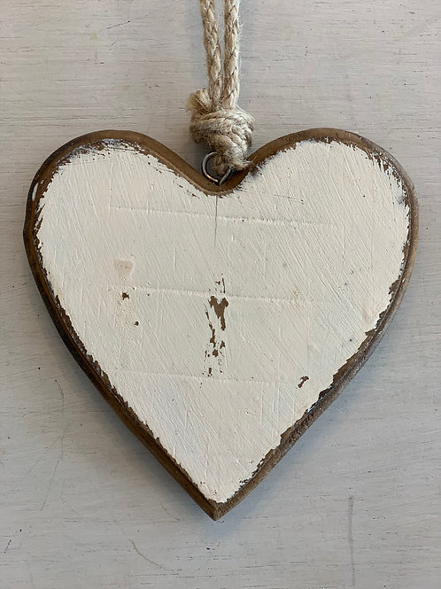LAVIDA Hanging heart wood