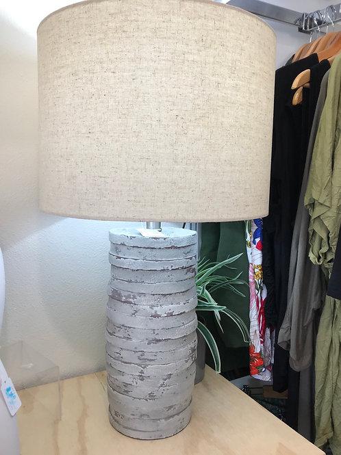 Distressed Concrete Lamp
