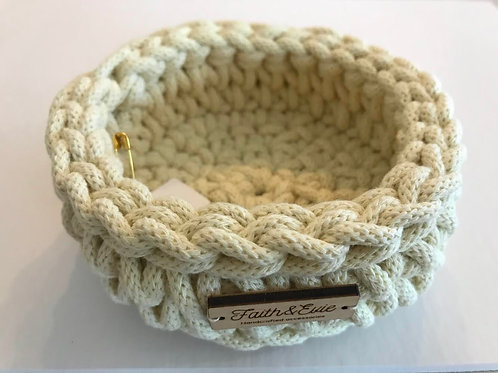 FAITH AND EVIE - Crochet Basket (small)