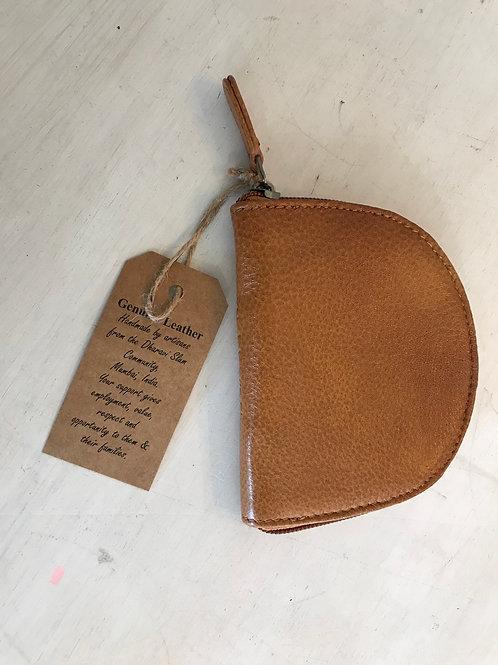 Leather Tan Coin Purse