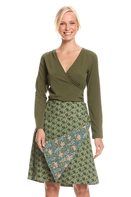 Jaya Reversible Skirt - Clover Jade
