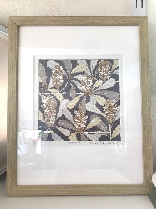 Framed Print Lorraine Brownlee Banksia