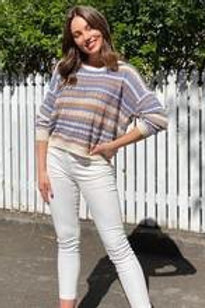 SPICY SUGAR - Stripe Crochet Jumper