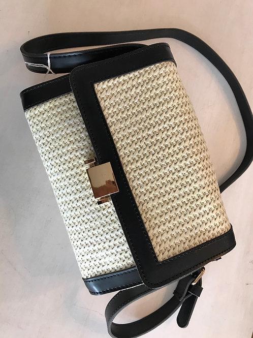 Handbag Cream with Black Trim