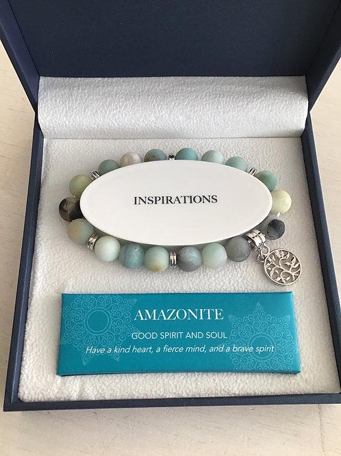 Crystal Carvings Bracelet by Bramble Bay - Amazonite