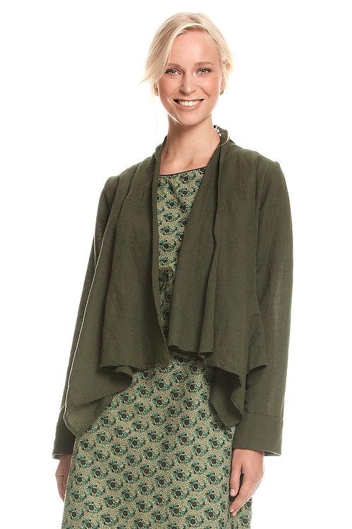 Lucy Linen Jacket - Moss