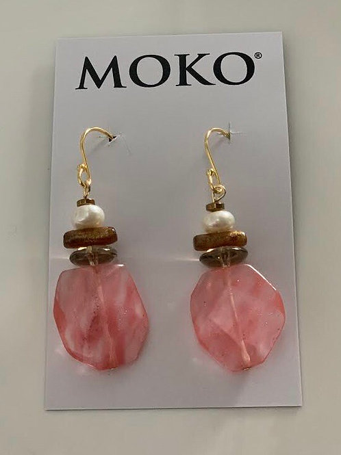 MOKO JEWELLERY - Earrings (Pink)