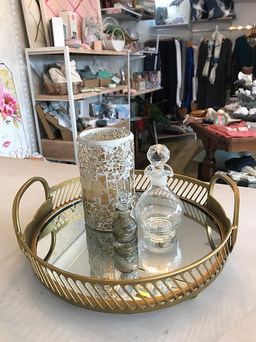 Gold and Mirror Tray
