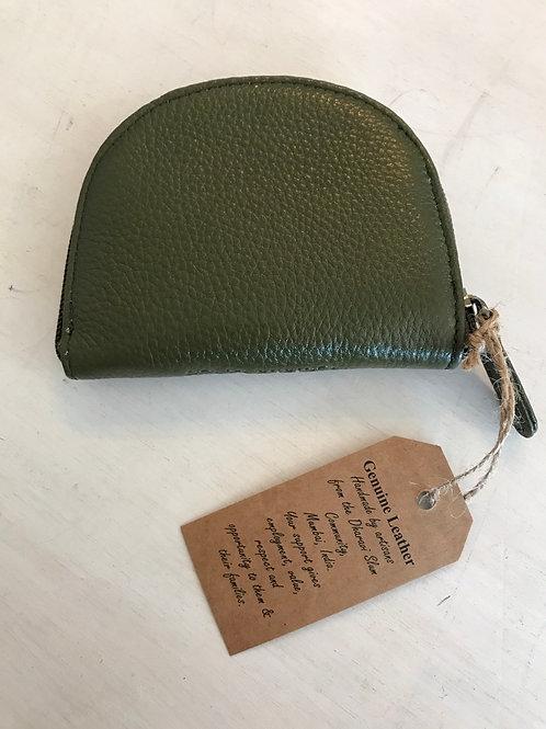 Avocado Genuine Leather Coin Purse
