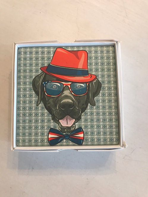 Dogs in Hats Coasters - set of 4