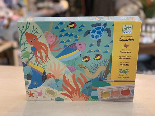 DJECO - Sea Paint Set