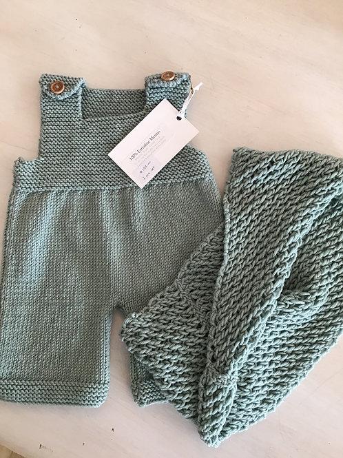 WENDY'S HANDKNITS - Mum & Bub Set (pale khaki)