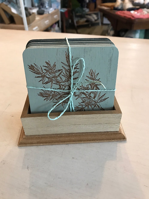 Set of 6 Timber Coasters