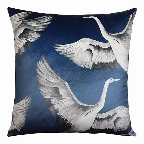 Crane Indigo Cushion