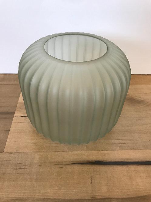 Glass fluted display vase