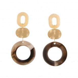 ENHANCE ACCESSORIES Circle Earrings