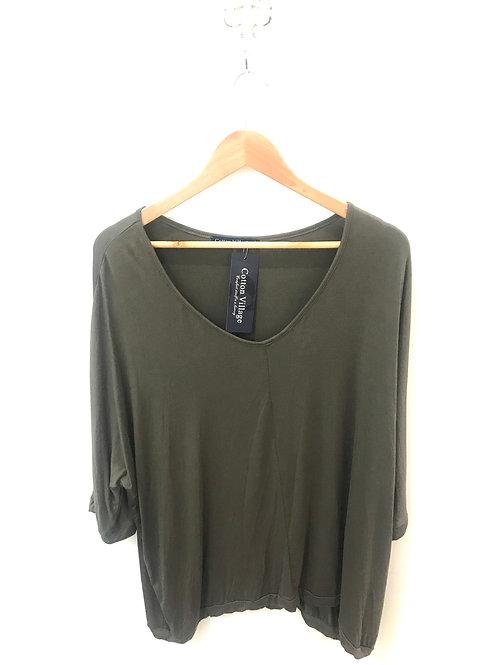 Rochelle Batwing 3/4 shirt Kahki
